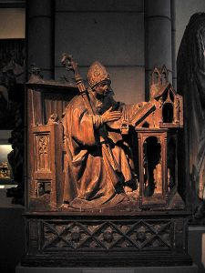 Saint Ambrose in His Study, ca. 1500. Spanish, Palencia. Metropolitan Museum of Art, New York City.